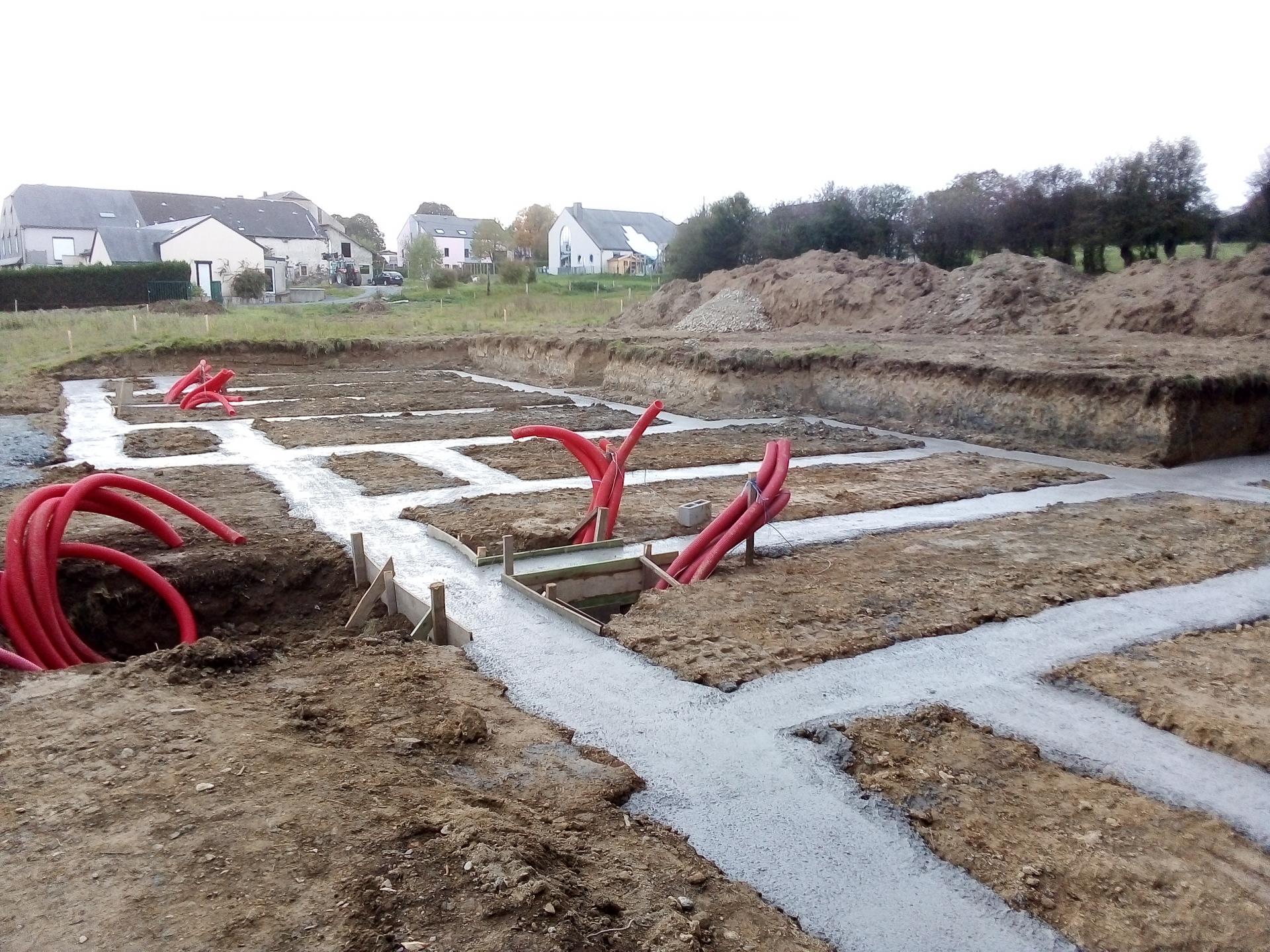 Construction de 4 maisons à Longlier 2019-2020