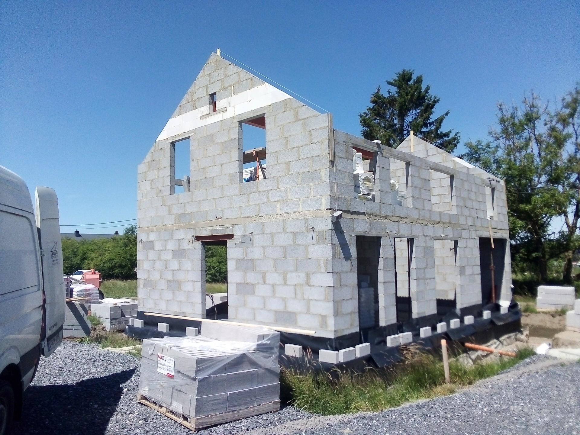 Construction maison 4 façade à Morhet 2020